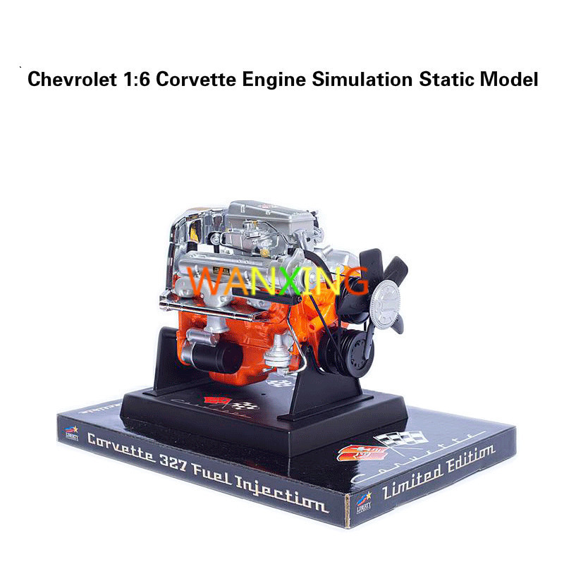 Stirling Engine Static Model 1 6 Kirwee Special Alloy Simulation Model Corvette V8 Engine Collectible Gifts
