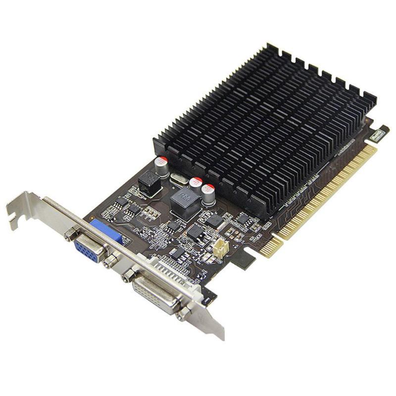 Yeston GT710-1G D3 carte graphique 1G GDDR3 1600 MHz 64Bit ordinateur de bureau DVI Carte De Jeu Vidéo pour nVIDIA Carte De Jeu Vidéo pour Jeu