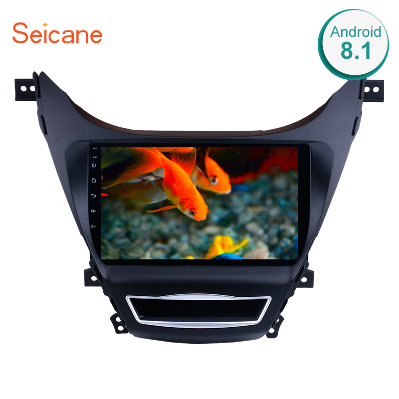 Seicane 9 Inch Android 8.1 2Din Car Multimedia <font><b>Player</b></font> Radio For <font><b>2008</b></font> <font><b>Hyundai</b></font> <font><b>Elantra</b></font> Touchscreen Head Unit Support Wifi OBD2 image