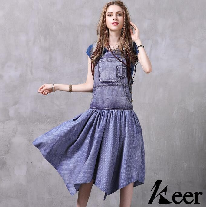 f sommer 2428 dress set marke unregelmige denim b7gyYvf6I