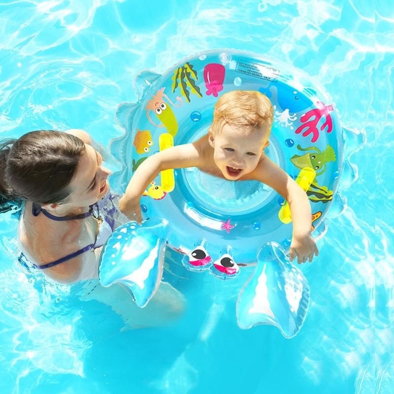 4Style Baby Seat Float Swim Ring Inflatable Safety Kids Swimming Pool Water Toys Summer Swimming Toys For Children