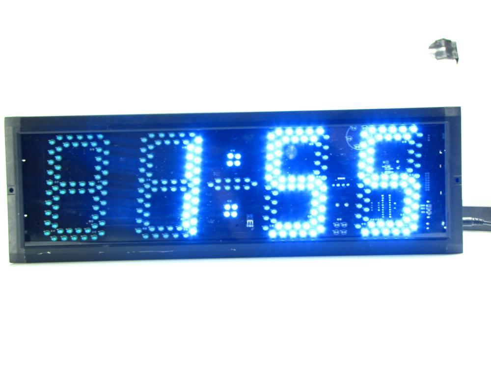 Супер большие цифровые настенные часы светодиодный будильник таймер обратного отсчета пульт дистанционного управления большой номер свет... - 5