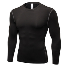 Spring Men Running T-shirt Compression Fitness Gym Jogging Outdoor Sport Top Sportswear Long-Sleeved T-shirts