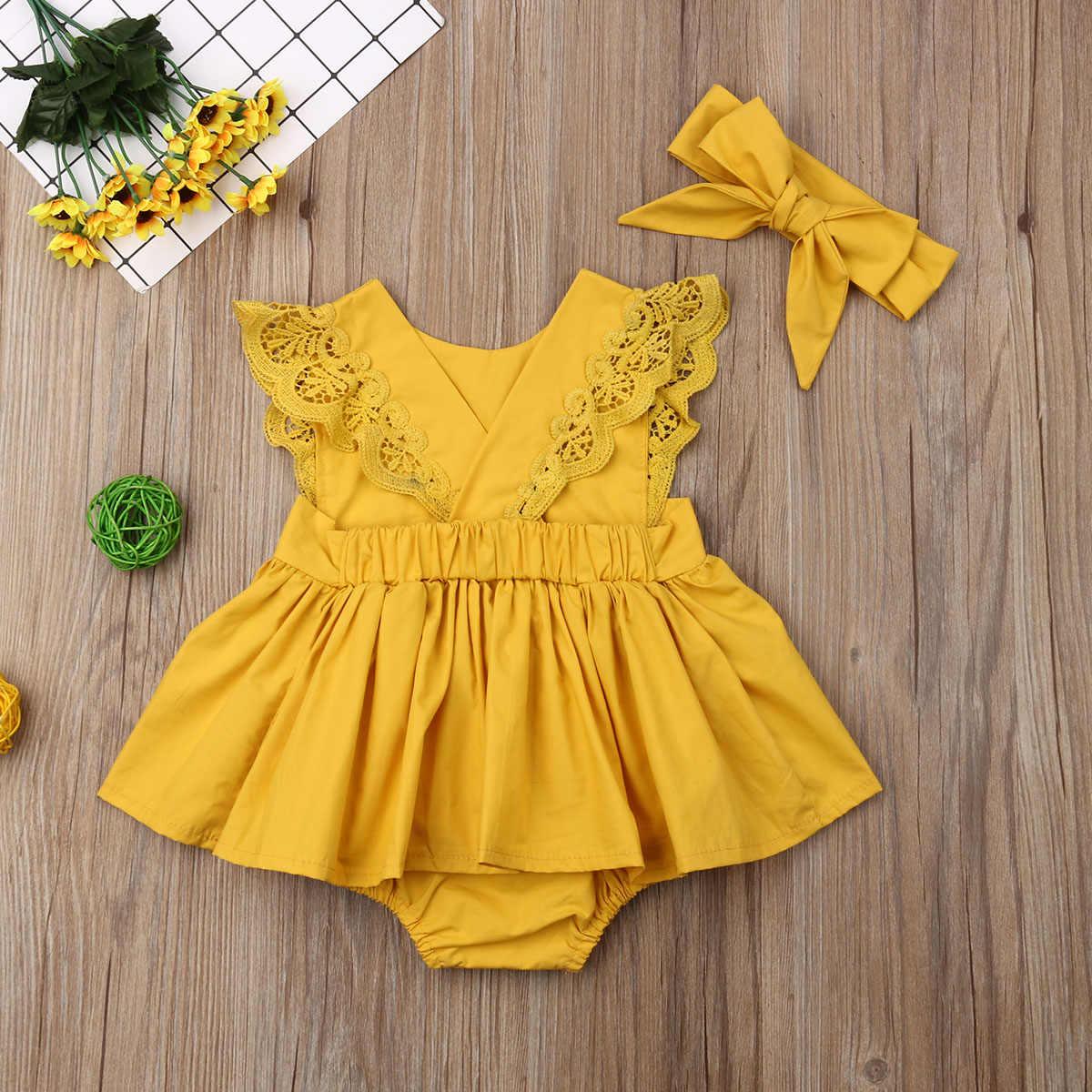 OHQ Kleinkind Baby M/ädchen Kleid Spitze R/üschen Kleider /Ärmellos Taste Hohl Prinzessin Sommerkleid Urlaub Outfit Kleidung