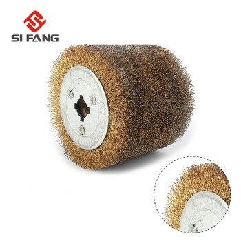 "4""(100mm) Wire Drawing Polishing Burnishing Wheel Grind Buffer Wheel 120*100*20mm Abrasive Tool for Electric Striping Machine"