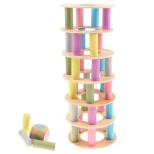 Wooden Building Blocks Stacking Tower Game Imagination Eye-hand Coordination Educational Toys Gift for Baby Children Kids