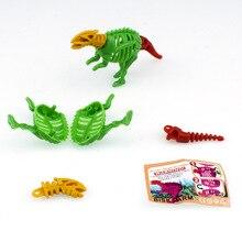 10pcs/lot Mini DIY Assemble Dinosaurs Fossil Animals Model Toys Self-Locking Bricks for Kids Gift