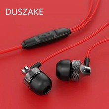 Duszake Bass Sound Earphone In Ear Sport Earphones With Mic For Xiaomi IPhone Samsung Headset Fone De Ouvido Auriculares MP3