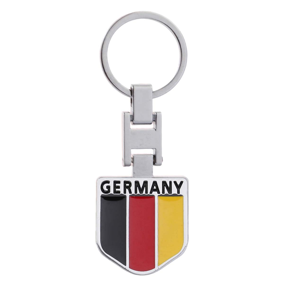 1pcs Creative Keyring National Flag Metal Decor Keyring Delicate Keychain Hanging Keychain for Purse Key Bag Accessories