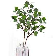 High-Grade Artificial Flower Simulation Plant Home Decoration Money Leaf Eucalyptus Fake Leaves Green