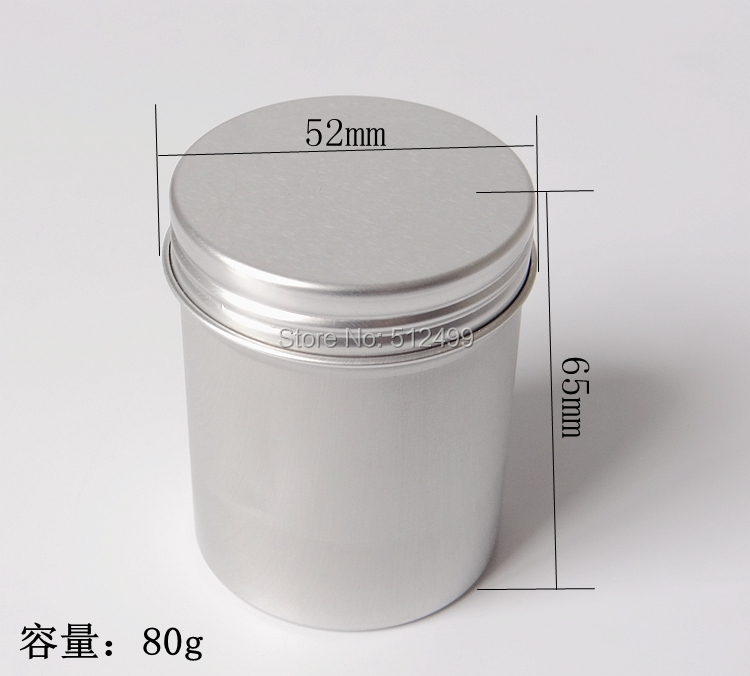 80g 50pcs Refillable empty round aluminum tin cans bottles food aluminum cans 80ml cosmetic container box