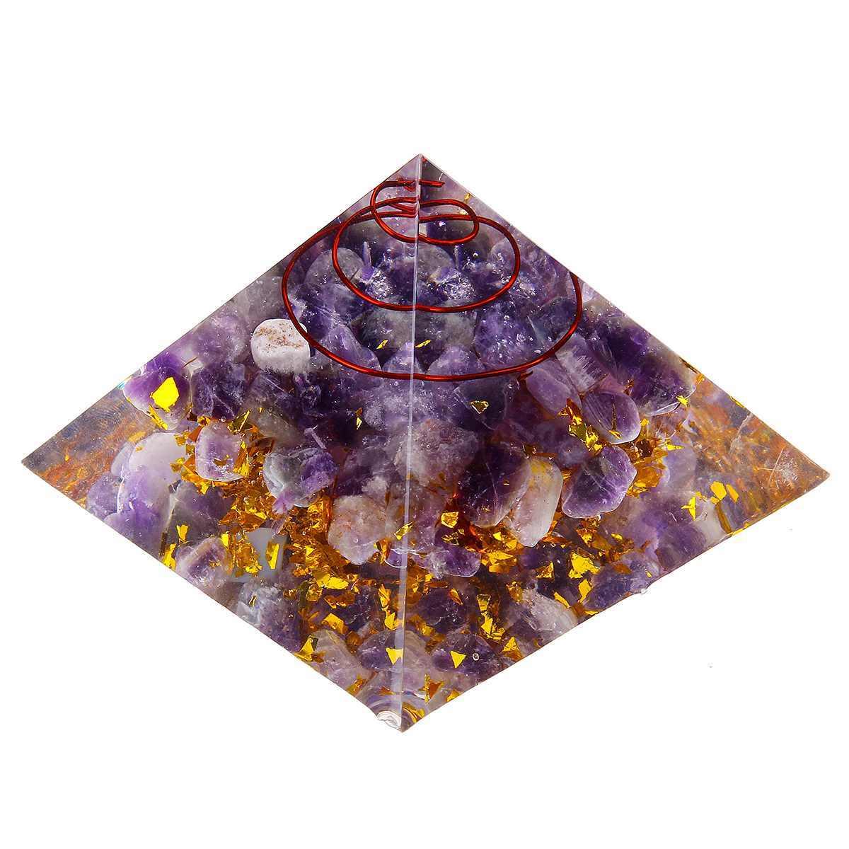 Tím Orgone Kim Tự Tháp 6.5 cm bình Edge Chữa Bệnh Kim Tự Tháp Thạch Anh Tím Kim Tự Tháp Pha Lê Thủ Công Vật Trang Trí Trang Trí Nhà Hàng Thủ Công May Mắn Quà Tặng