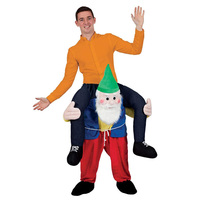 Shoulder Ride On Mascot Costume Piggy Back Party Fancy Dress Carry Costume (Dwarf / Colorful)