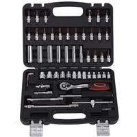Multifunction 53pcs 1/4 Inch Socket Set Car Repair Tool Ratchet Set Torque Wrench Combination Bit a set of keys Chrome Vanadium