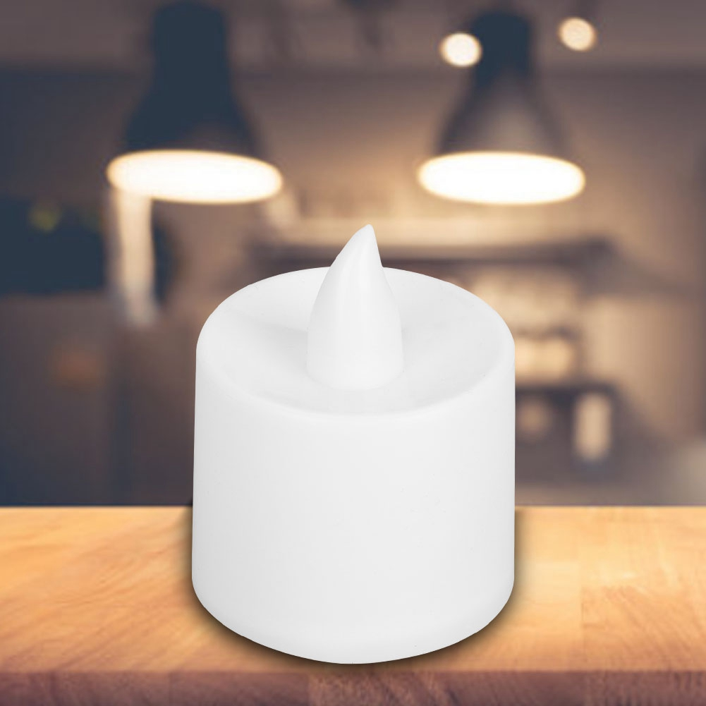24PCS LED Candle Lamp Warm White Night Light for Home Bar Cafe Wedding Decoration Party   - title=