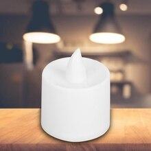 24pcs светодиодные свечи лампы теплый белый ночь свет для дома бар кафе украшение свадьбы