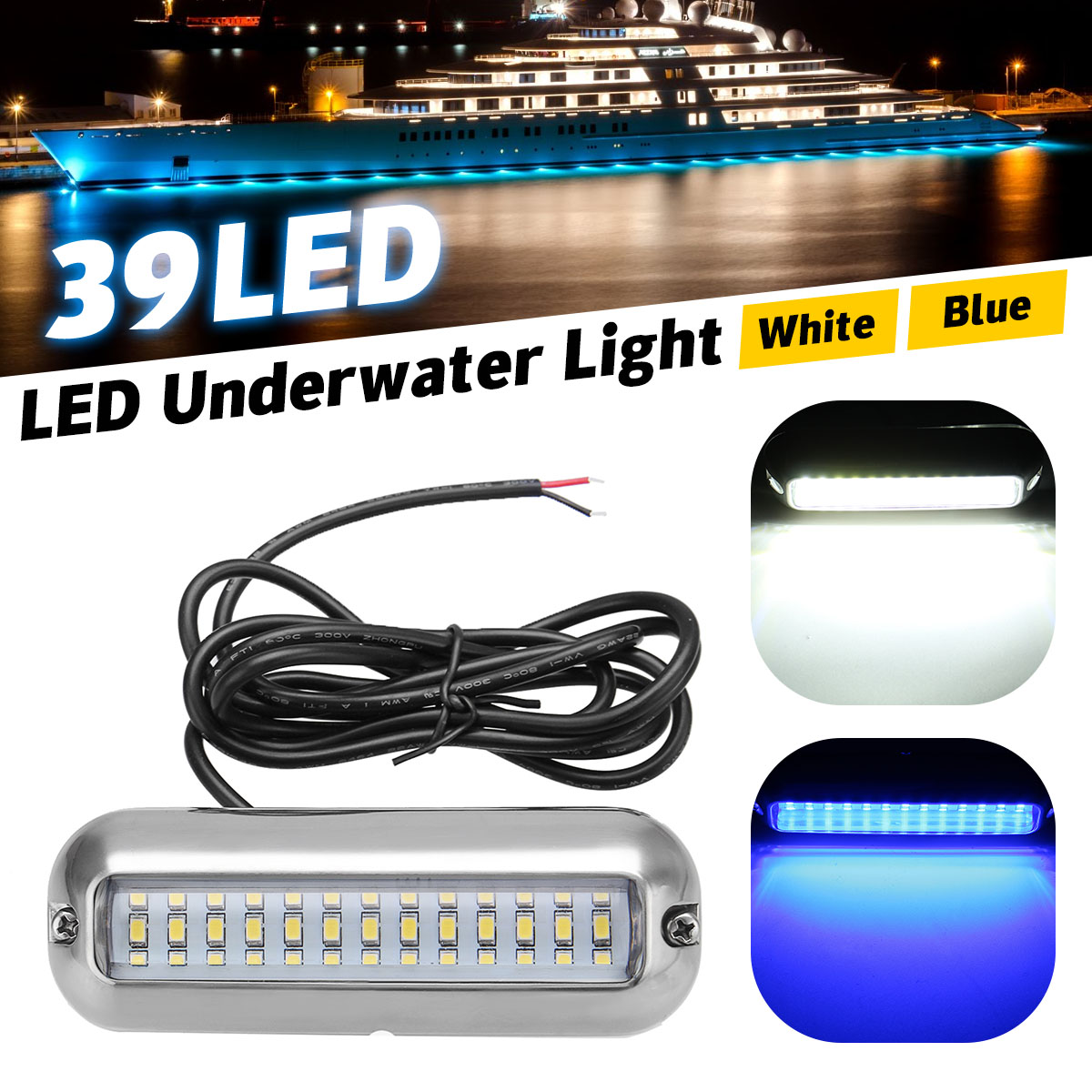 Reasonable 50w 27led Red/blue/green Boat Light Underwater Pontoon Marine Transom Light Ip68 Waterproof Stainless Steel Anchor Stern Lamp Automobiles & Motorcycles