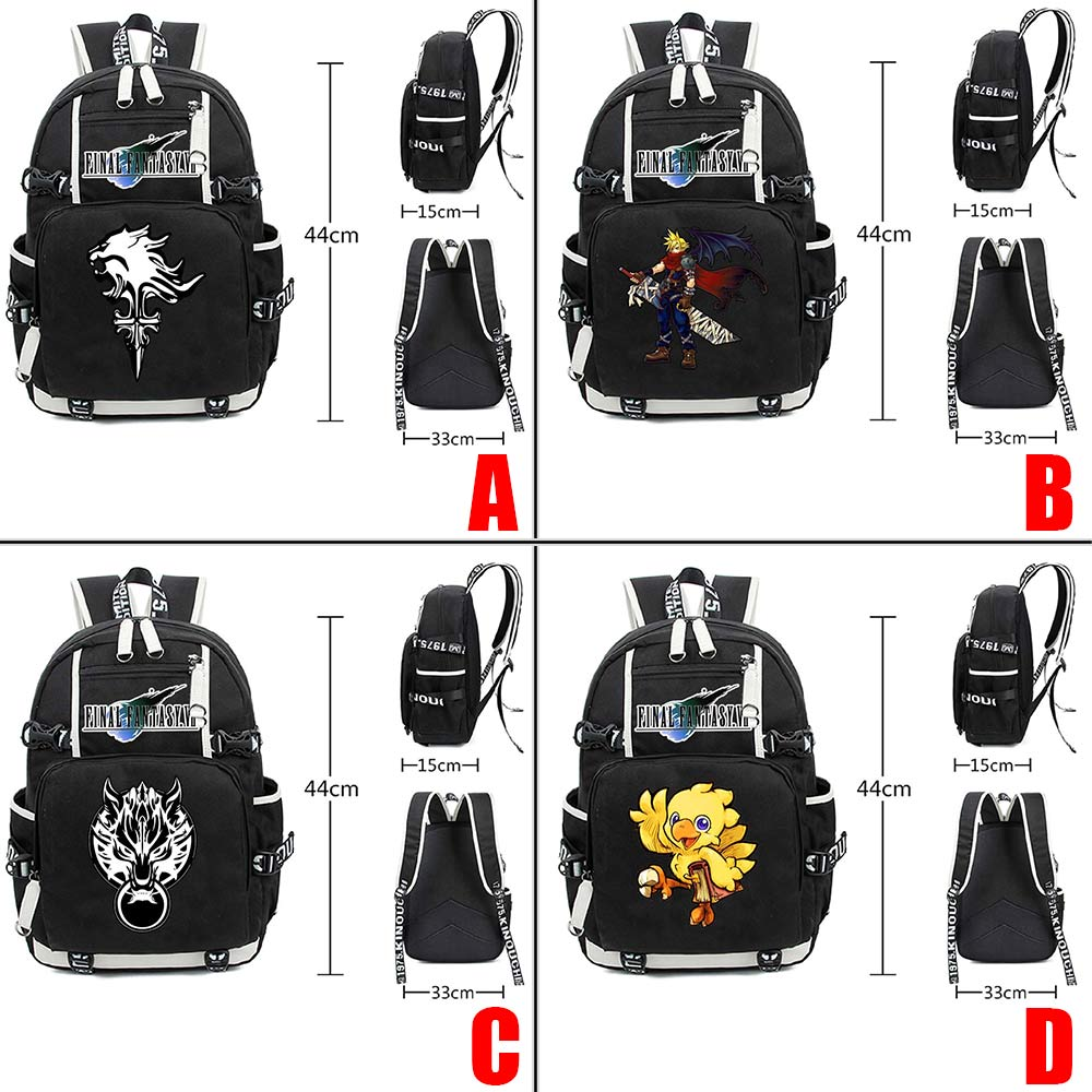 Wellcomics Game Final Fantasy Noctis Prompto Chocobo Backpack Leisure Daily Backpack Travel Student School Bag Notebook Backpack