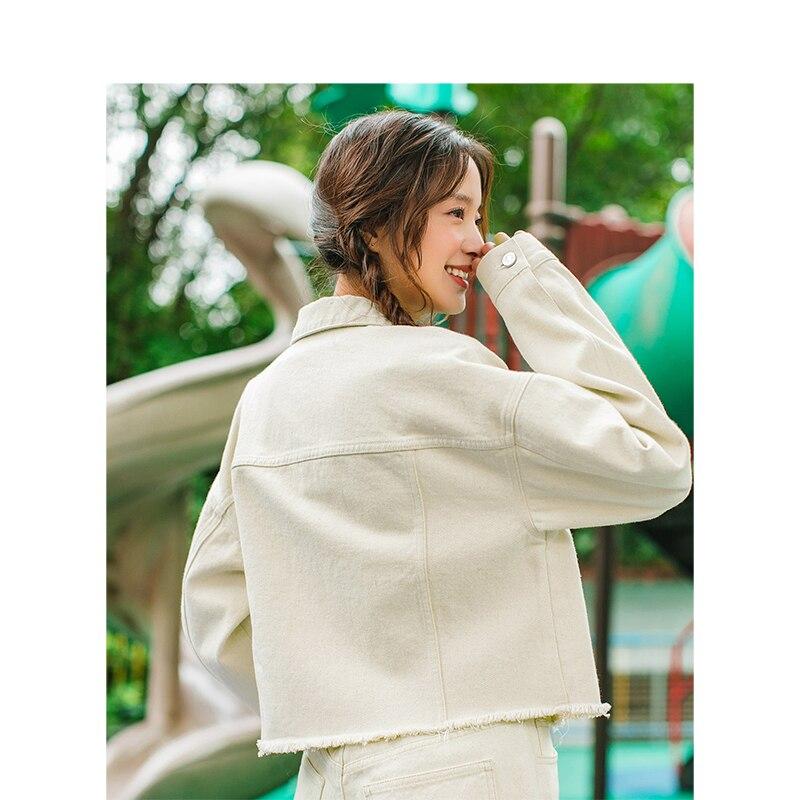 Jean Blouses Manches Littéraire 2019 Femme Court Longues Col Coréenne Broderie À Printemps Inman Beige Nouveauté Turn Down Slim eQdrWCxBo