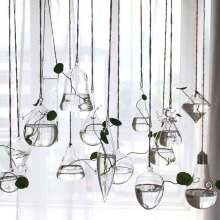 Цветок висячая ваза стеклянная плантатор растение Террариум контейнер сад домашний Свадебный декор