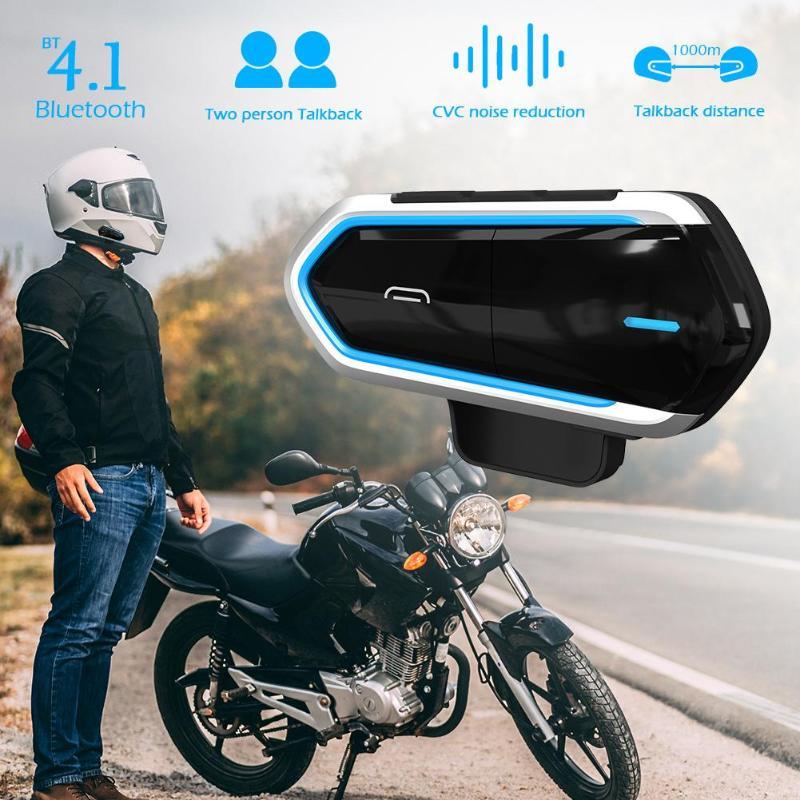 Bluetooth4.1 Motorrad Helm Headset mit Mikrofon 450mAh Drahtlose Bluetooth 4,1 Intercom BT Sprech Moto Zubehör Hot