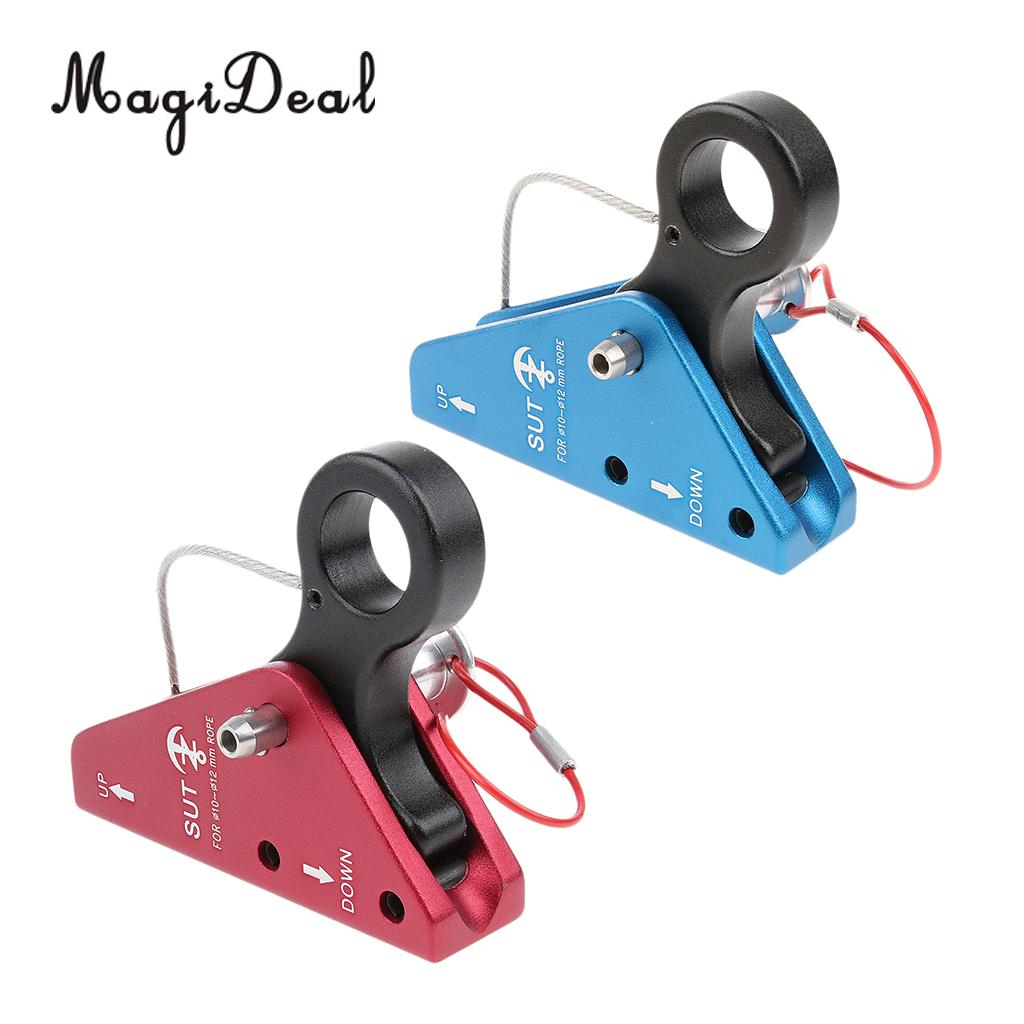 Aluminum Climbing Rope Grab Pulley Rope Adjuster Descending Device with Removable Pin for 10-12mm Rope Rigging Rescue Arborist 1pcs climbing pulley 32kn aluminum alloy heavy duty single wheel swivel lifting rope pulley block climbing rigging rescue