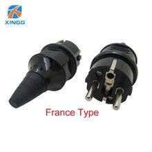 Adaptador de corriente eléctrica Industrial tipo E, enchufe Enchufe macho, 250V, 4000W, resistente al agua, UE, IP54