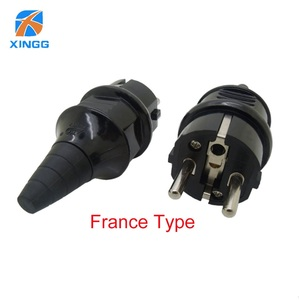 Image 1 - EU Waterproof IP54 Industrial Electrical Power French Type E Rewireable Plug Male Socket Outlet Adaptor 250V 4000W