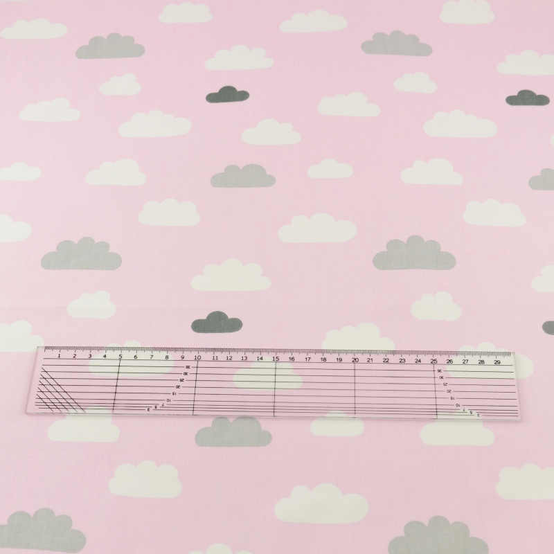 Booksew Cotton Fabric Light Pink Clous Designs Telas Meter Cloth Home Textile Quilting Decoration Baby Bedding  Scrapbooking