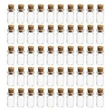 50 шт/100 шт/200 шт/500 шт 12*24 мм 1,5 мл мини стеклянные бутылки пустые Мини стеклянные банки с крышкой пробки для DIY ремесло украшения-прозрачный