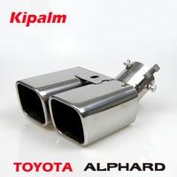 ALPHARD 1 zu 2 Dual Auspuff Spitze 304 edelstahl Modifizierte Auto Hinten Schwanz Kehle Schalldämpfer Spitze für ALPHARD