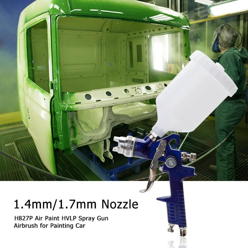 0.5mm/0.8mm/1.0m/1.4mm/1.7mm Nozzle H827P Air Paint HVLP Spray Gun Airbrush for Painting Car Aerograph Pro Cake Spraying Gun-in Spray Guns from Tools on