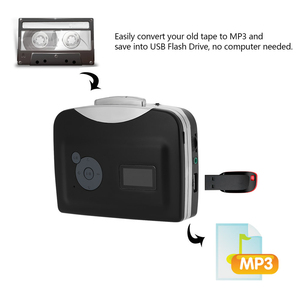 Image 5 - Ezcap 230 Cassette Tape to MP3 Converter Save into USB Flash Disk Easycap Auto Partition Standalone Recorder w/ Earphone
