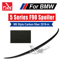 M5-Style Rear Trunk Lid Spoiler Wing Tail For BMW M5 F90 Carbon Fiber Rear Trunk Lip Boot Wings Spoiler Auto Car Styling 2019-in