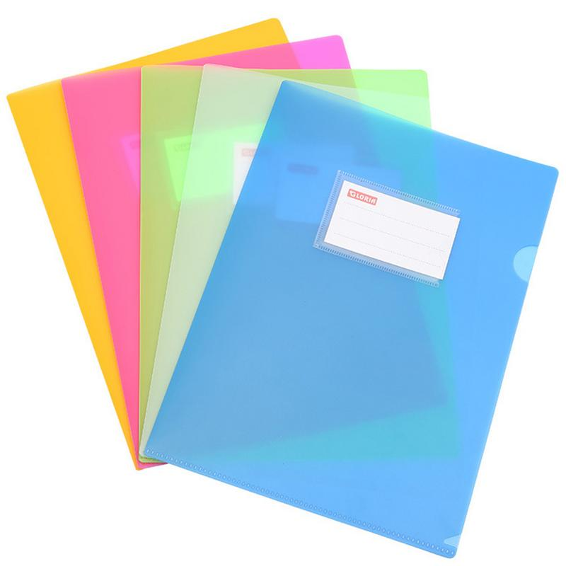 New Thick Single Page Folder A4L File Protector Two Pages Information Bag Insert Single Clip Office Supplies