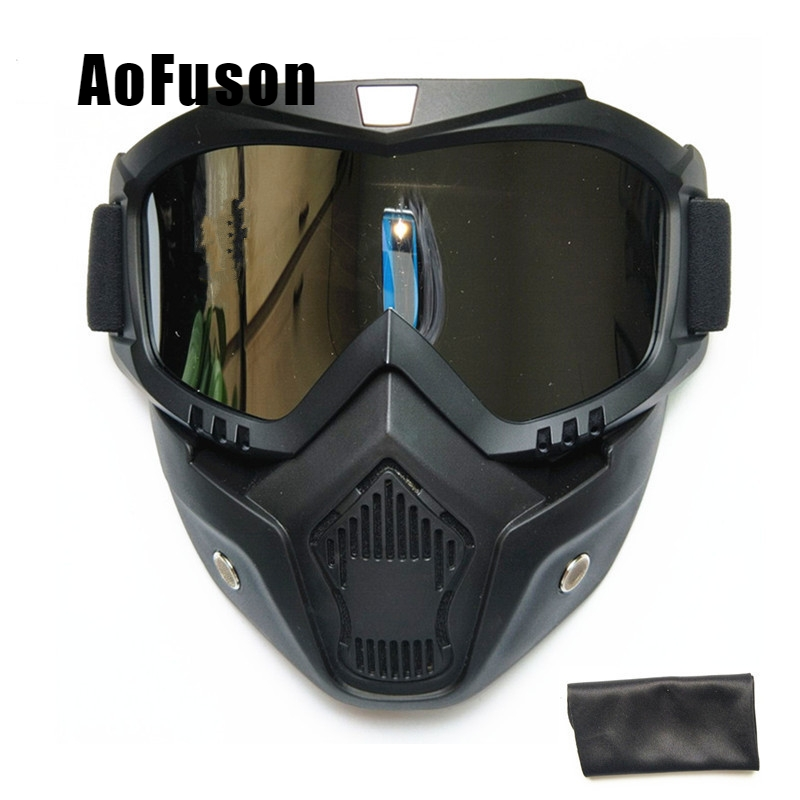 Skateboard Ski Mask Goggle Snow Windproof Glasses Motocross Motorcycle Snowmobile Respiratory Filtration Full Faces Mask Eyewear(China)