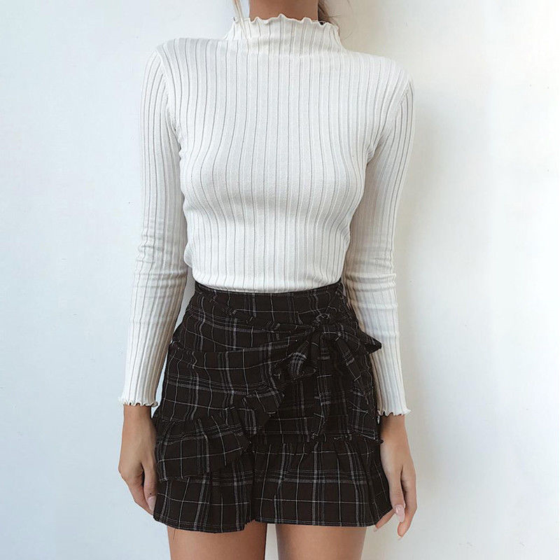 Women Blouses Casual Ladies Blouses And Tops Ruffles Blouse Shirt Winter Women Long Sleeve Tops Turtleneck Blouse Basic Clothing