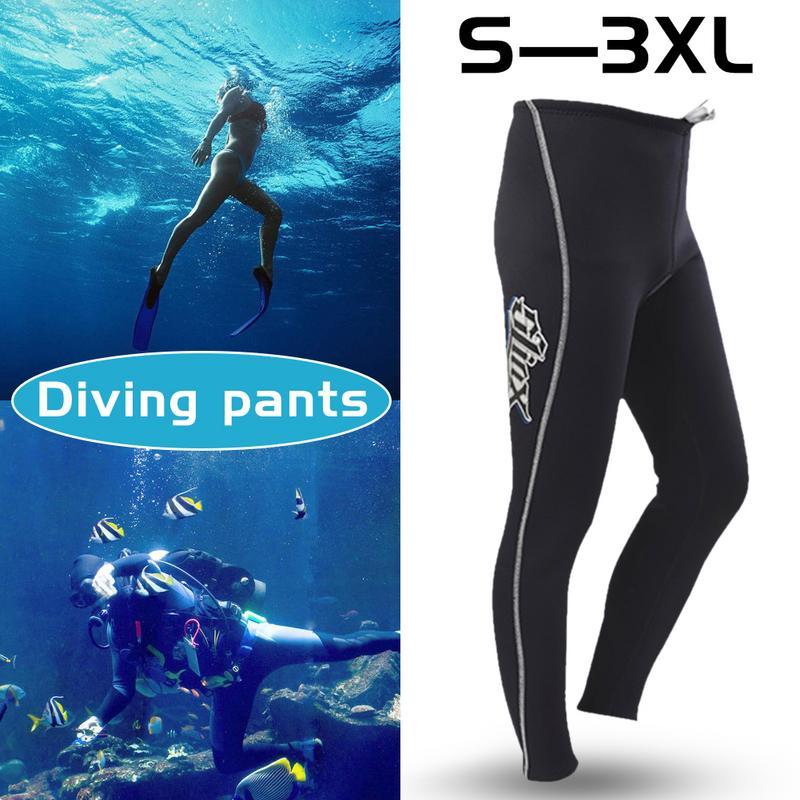 Slinx 3MM Thickened Warm Neoprene Scuba Long Dive Trousers Snorkeling Pants Wetsuit Bottom Men Winter Swimming