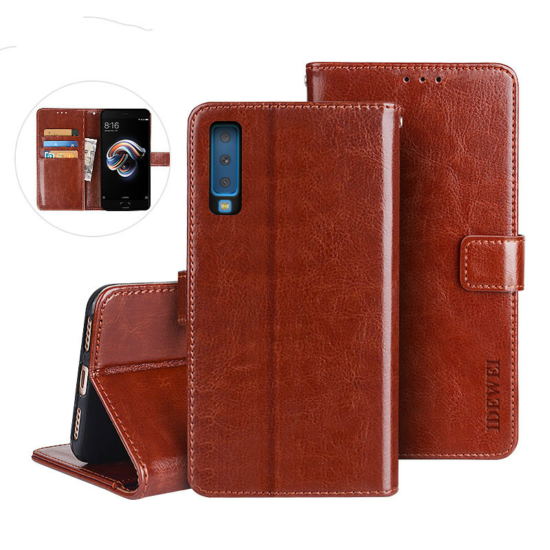 A7 2018 mobile phone case leather  Galaxy A750F anti-drop