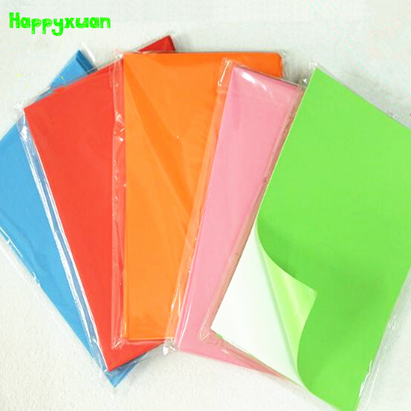 Happyxuan 10pcs/pack 20*30cm 2mm EVA Foam Self-Adhesive Kids Diy HandiCraft Materials