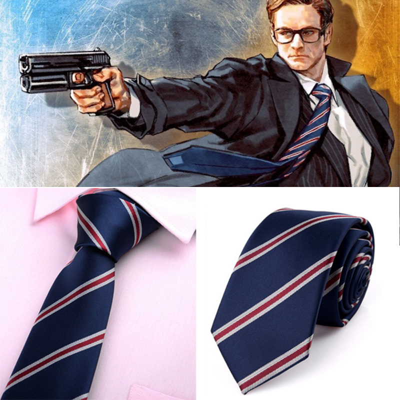 Movie Kingsman The Golden Circle The Secret Service Harry Hart Eggsy Cosplay Costumes Neck Tie Polyester