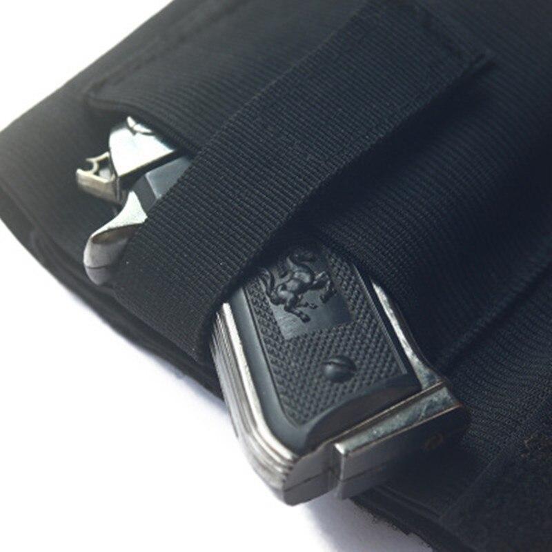 FleißIg Universal Ankle Holster Mit Retention Haken & Schleife Strap Verdeckte Pistole Tragen Fall Elastische Sichere Strap Revolvor Verschleierung Sicherheitsgurt Sicherheit & Schutz