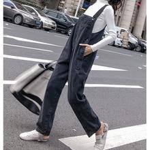 дешево!  Высокая талия корейский стиль женщин джинсовый комбинезон 2019 весна осень комбинезон боковые кнопки