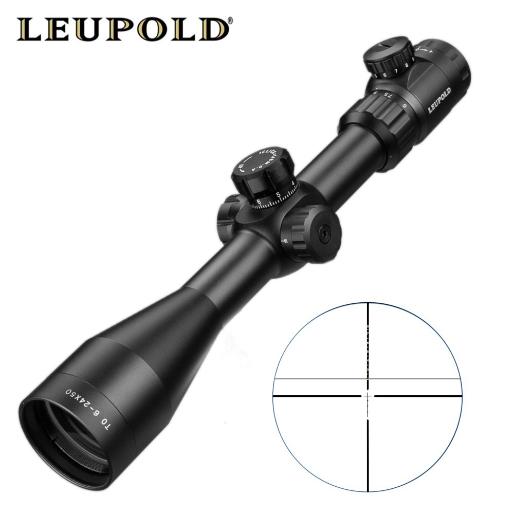 PER 6-24X50 SFIR Ottica Riflescope di Caccia Scope Mil-dot Reticolo Tactical Scope Cannocchiali da fucile Per Airsoft Fucili Ad Aria Compressa