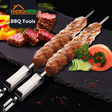 Needle-Stick Barbeque Stainless-Steel Camping Skewers Picnic-Tools Kitchen-Utensils BBQ