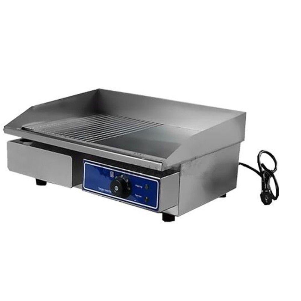 Gril électrique Commercial de contact d'acier inoxydable de contrôle de température de gril électrique à la maison plaque plate de gril teppanyaki