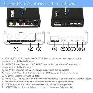 Image 3 - Video Converter CVBS RCA S Video AV/SV to HDMI 4K Scaler Analog to Digital UHD 4K Upscaler Composite Adapter for HDTV AV to HDMI