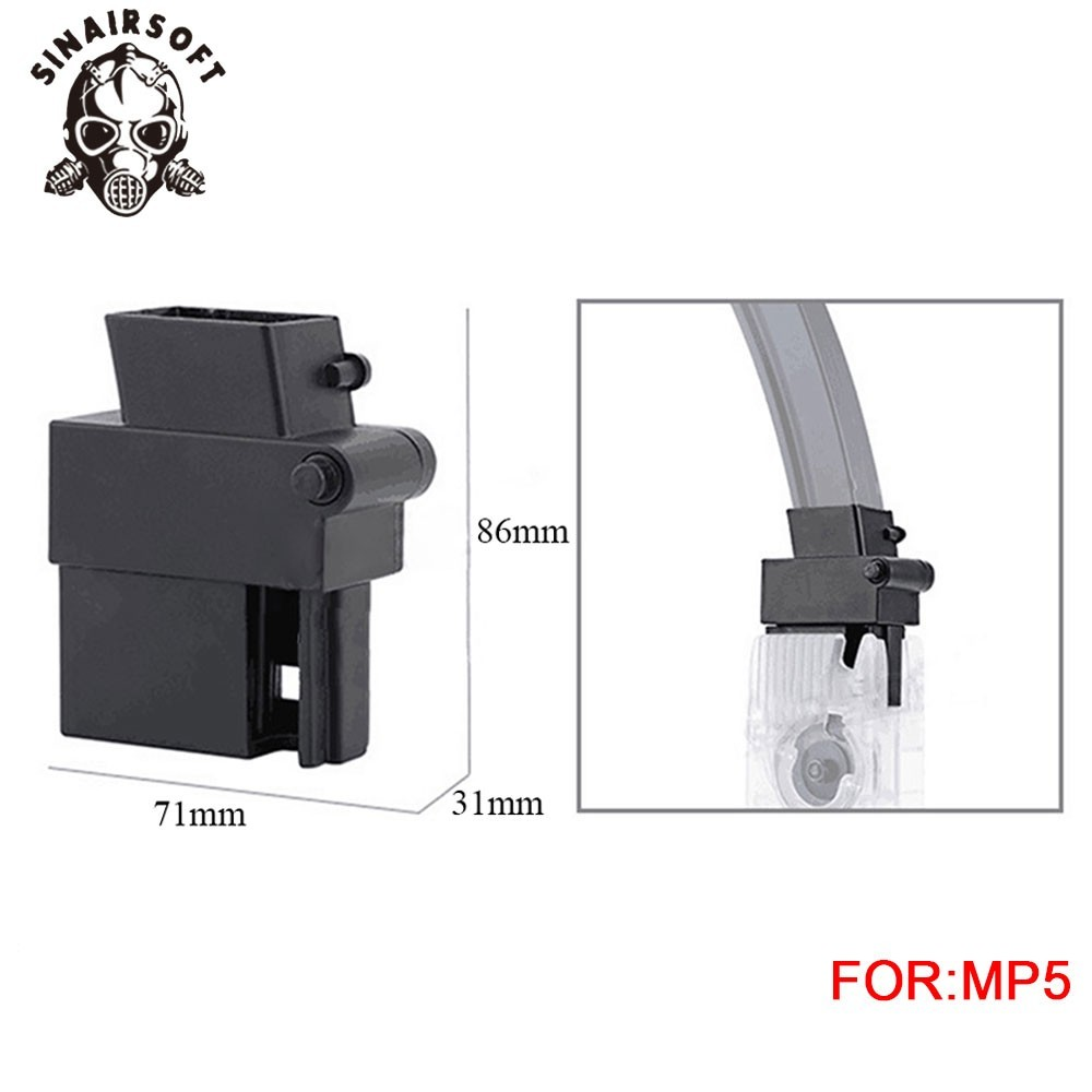 Fast BB Speedloader Adapter Magazine Fit MP5 Airsoft Gun Converter For Paintball Shooting Hunting Accessories Free Shipping