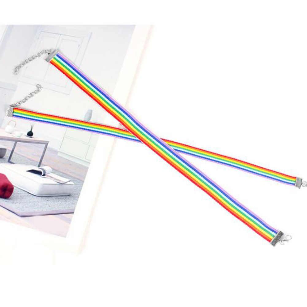 Colar de gargantilha do arco-íris do orgulho gay e lésbica do laço do orgulho de lgbt