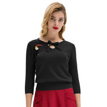 Belle Poque Plus Size Women Embroidery Shirt Long Sleeve Casual Loose Lace Up Blouses Tops keyhole Crew Neck
